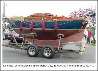 Dulcinea, commissioning on Memorial Day, 26 May 2008, White Bear Lake, MN.
