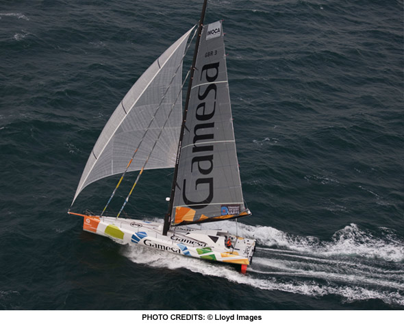 mike golding gamesa 4th place on the transat b to b