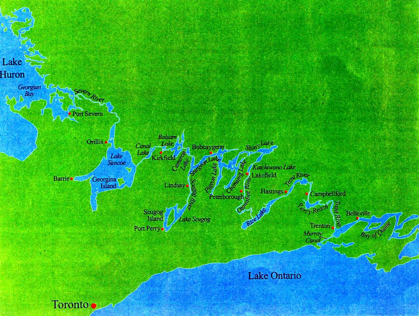 Lake Huron Ontario Map Huron And Lake Ontario